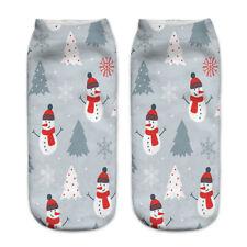 3d Unisex Print Cute Santa Claus Socks Low Cut Harajuku Christmas Boat Sock 3