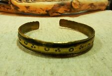 Antique Hammered Brass Viking Bracelet (22).
