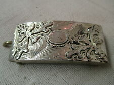 Belt Buckle Sloo Crown Mark Vintage Mexico Sterling 925 Silver