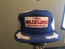 Vintage Suzuki Motorcycles Trucker Hat Mesh Patch