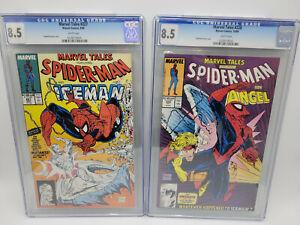🌟Marvel Tales #227 & 228 CGC 9.4 NM Todd McFarlane Spiderman Covers 1990
