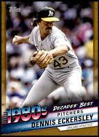 Dennis Eckersley 2020 Topps Decade's Best Series 2 5x7 Gold #DB-70 /10 Athletics