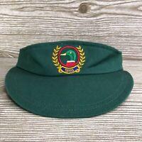 VTG DUCK HEAD LOGO GREEN ELASTIC BAND SUN VISOR HAT CAP 90s