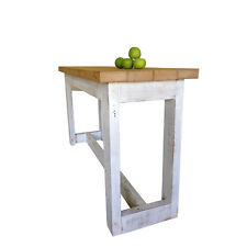 Rustic Wooden Kitchen Island High Bench Bar Table 6 - 8 Seater 10 Year Warranty