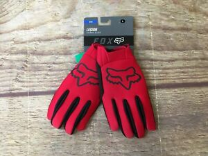 Fox Racing Mens Large Red/Black Legion Thermo Glove NWT