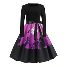 Hot Womens Ladies Halloween Party Dress Long Sleeve Casual Costume Party Dress