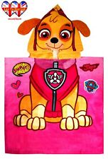 Paw Patrol Hooded Towel Poncho,3D Features On The Hood,Official Licensed