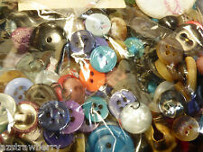 Lot Antique Old VTG mix color size Buttons Fabric Cloth Mother of Pearl Metal