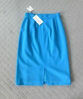 Laurel by Escada NWT Vintage Blue Straight Skirt Knee Length Size 36 6 $398