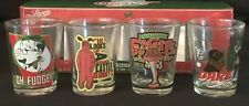 """BRAND NEW!  RARE Set of 4 """"A Christmas Story"""" Collector's Series Shot Glasses"""