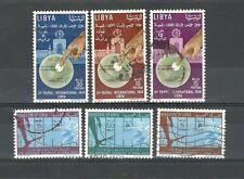 R1865 - LIBIA 1963 - SERIE COMPLETA USATA DIRITTI DELL'UOMO N°225/30 - VEDI FOTO