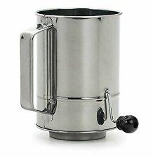 RSVP Endurance Crank Style Flour Sifter 5-cup M9