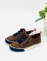 NEW Toddler Boys' Luka Sneakers Size 7 Shoes Brown Dressed Up Tennis Shoes