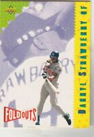 FREE SHIPPING-MINT-1993 UPPER DECK DARRYL STRAWBERRY FOLD-OUTS CARD 220