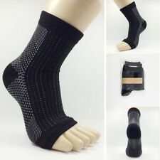 1pc Men Elastic Compression Foot Wrap Ankle Support Brace For Sports Relief Pain