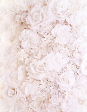 4x5ft White Flowers Background Vinyl Baby Child Show Photography Props Backdrop