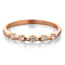 CZ Rose Gold Stackable Ring ~ Size 9