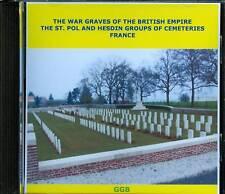 WAR GRAVES OF ST POL & HESDIN GROUP OF CEMETERIES CD
