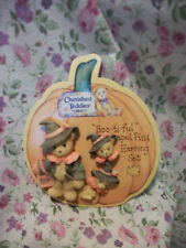 CHERISHED TEDDIES HALLOWEEN PIN & EARRING SET 176230