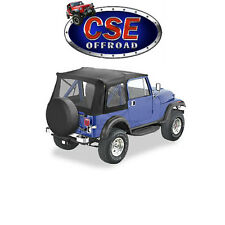 51599.01 Bestop Black Supertop Jeep CJ7 Wrangler YJ 1976-1995