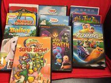 Lot Of 10 Children's Movie -Mario Bros. Super Show,Thomas & Friends, Dora & More