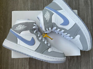 Nike Air Jordan 1 Mid WMNS 'Wolf grey' 🔥| UK 2.5 |   | NEXT DAY DELIVERY 🚚