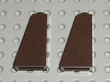 2 x LEGO DkBrown slope brick 4460 / set 7956 4192 2507 70810 79002 70014 7097...