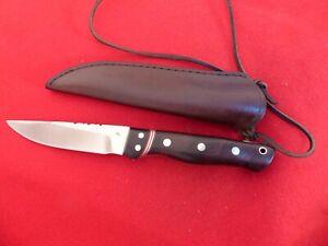 """T D logo custom handmade 8.75"""" overall fixed Blade Full Tang Knife 080700"""