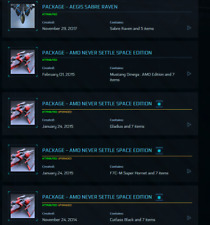 Star Citizen vice admiral account 5 game packages (6 ships)