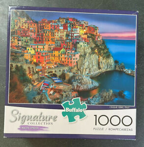 """Buffalo Signature Collection 1000 Piece Puzzle """"Cinque Terre Italy"""" Not Tested"""