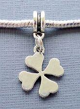 Four Leaf Clover Pendant Large Hole bead Fits European Charm Bracelet C174