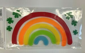Rainbow Weather Window Gel Sticker Cling Teacher Supply St Patrick's Day Clover