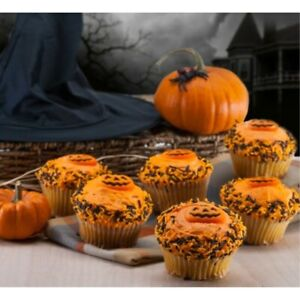 Halloween Pumpkin Cupcakes-6 Count