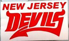 NEW JERSEY DEVILS vinyl window decal #1