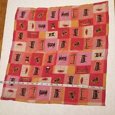 2001 Silk Scarf Furniture Bayerische Schlosserverwaltung  Pink Gold