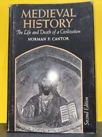 Cantor, Norman F.  MEDIEVAL HISTORY  2nd Edition 1st Printing HC DJ MacMillan co