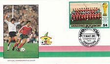 St Vincent Grenadines 1986 World Cup Mexico PORTUGAL FDC Unadressed