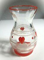 *anmutige vase art deco glas mit handbemaltem dekor aus sammlung 37