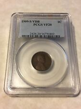 1909 S VDB PCGS VF20 1C Lincoln Cent Wheat Ears Penny nice coin