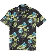 TOMMY BAHAMA Adriatic Garden Coal Hawaiian Silk Shirt Size Medium M NWT $128