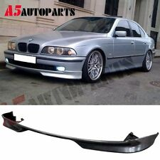For 97-00 BMW E39 5Series M Tech Style Front Bumper Lip Unpainted PU 528i 540i