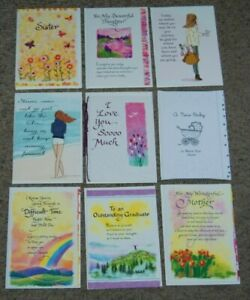 Lot 9 NEW Blue Mountain Arts Sister Love Graduation Greeting Cards & Envelopes