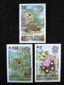 BRITISH INDIAN OCEAN TERR. - SCOTT#54-56 - MNH - CAT VAL $12.50