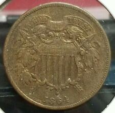 1864 2 Cent Coin Large Motto