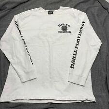 Harley Davidson Mens White Long Sleeve Tee Graphic