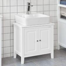SoBuy® Waschbeckenunterschrank,Badschrank,Waschtisch Unterschrank,weiß,FRG202-W