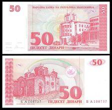 Macedonia 50 DENARI 1993 P 11 UNC