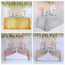 Rectangle Sequin Tablecloth Sparkly Table Cover Glitter Wedding Party Decoration