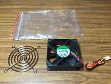 SUNON KD1208PTB3 DC12V 1.0W 80x80x20mm 3pin Case/CPU Cooling Fan w/ Chrome Grill