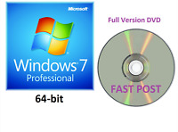 Windows 7 Professional 64-Bit Bootable Installation DVD Full Version SP1 Disc CD